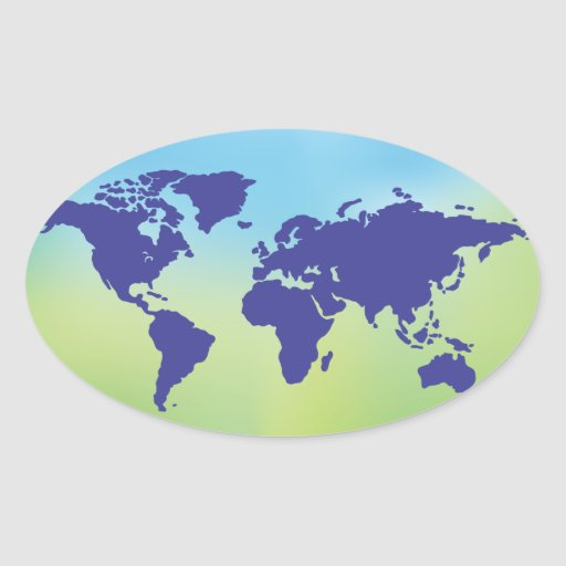 FreeVector-Earth-Vector.ai digital art maps causes Oval Sticker
