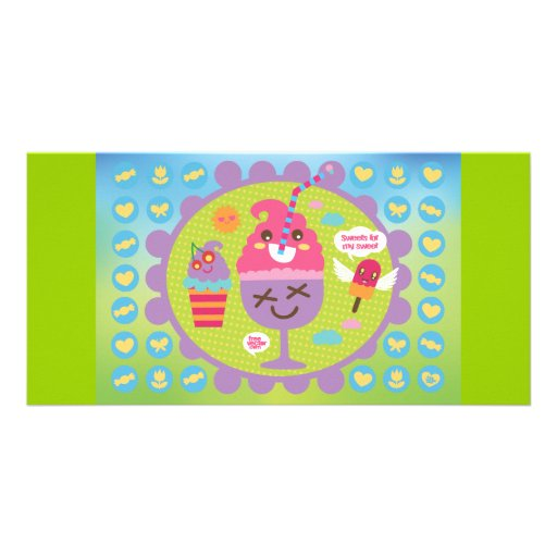 FreeVector-Ice-Cream-Cartoons cute kawaii graphics Photo Greeting Card
