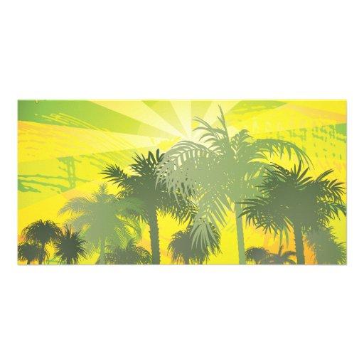 FreeVector-Palm-Trees.ai Photo Card