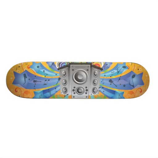 FreeVector-Party-Footage.ai Skateboards Cutomisables