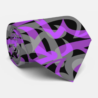 Freeway Abstract Retro Two-Side Print Tie