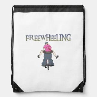Freewheeling Cycling Drawstring Bag