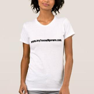 freewillpower: reversed ladies' t-shirt