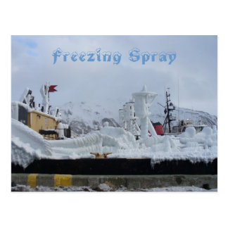 Freezing Spray on a Fuel Barge, Dutch Harbor, AK Postcard