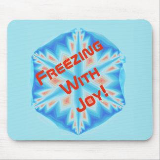 Freezing with Joy! Mouse Pad