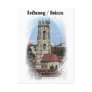 Freiburg/Fribourg pressure on wedge canvas