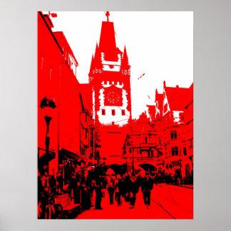 Freiburg Martin gate red Poster