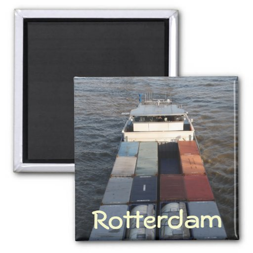 Freight ship on the Meuse, Rotterdam Magnets