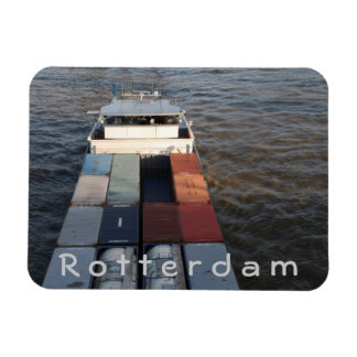 Freight ship on the Meuse, Rotterdam Rectangular Photo Magnet