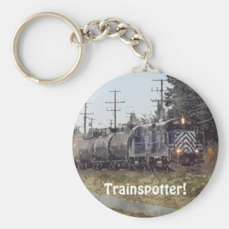 Freight Train Engineer Drivers Key-Chains Basic Round Button Keychain
