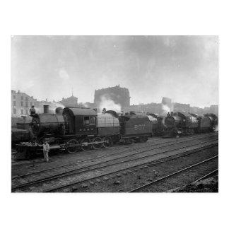 Freight Trains Scranton Pa. Postcard