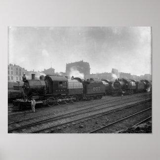 Freight Trains Scranton Pa. Poster
