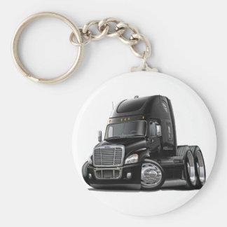 Freightliner Cascadia Black Truck Basic Round Button Keychain