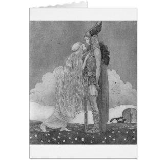 Freja and Svipdag by John Bauer Card