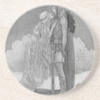 Freja and Svipdag by John Bauer Coaster