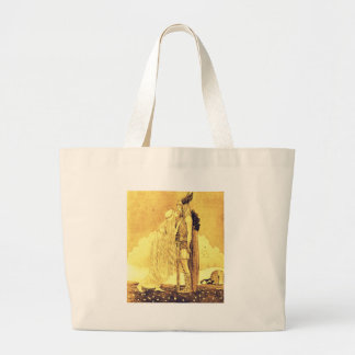 Freja and Svipdag by John Bauer Large Tote Bag