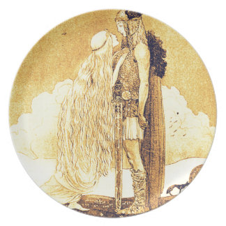 Freja and Svipdag by John Bauer Plate