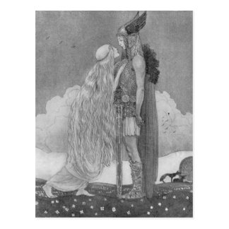Freja and Svipdag by John Bauer Postcard