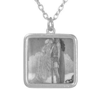 Freja and Svipdag by John Bauer Silver Plated Necklace