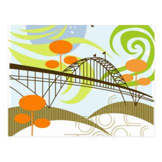 Fremont Bridge Portland Postcard