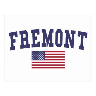 Fremont US Flag Postcard