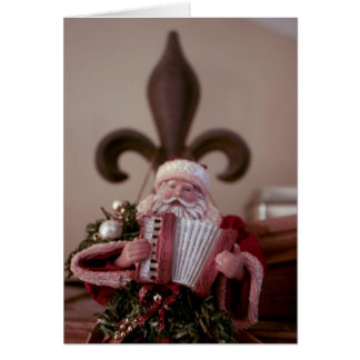 French Accordion Santa Card