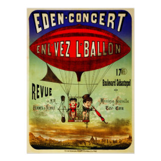 French Airship Poster