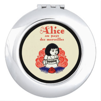French Alice Book Cover Compact Mirrors