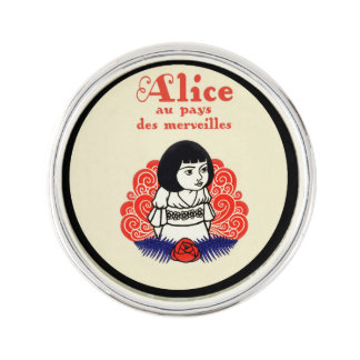 French Alice Book Cover Lapel Pin