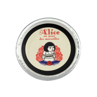 French Alice Book Cover Ring