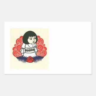 French Alice Book Cover Sticker