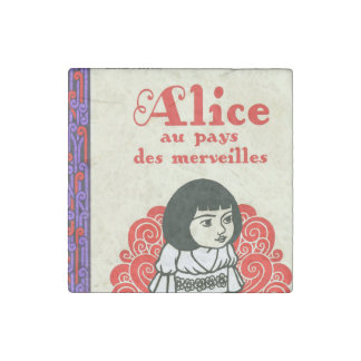 French Alice Book Cover Stone Magnets