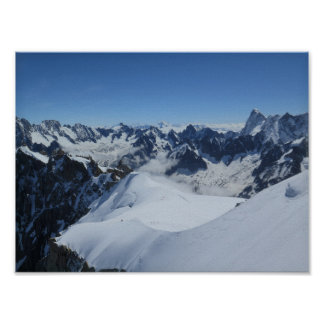 French Alps Chamonix Poster