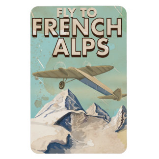 French Alps Vintage Travel poster Magnet