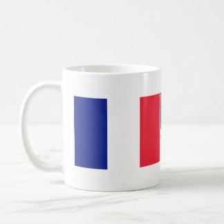 French American flag friendship coffee mug