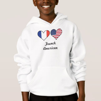 French American Flag Hearts