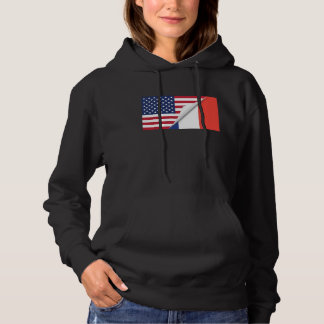 French American Flag Hoodie