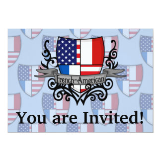 French-American Shield Flag Card