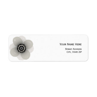 French Anemone Address Label