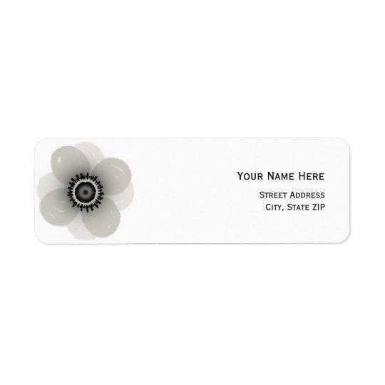 French Anemone Address Label