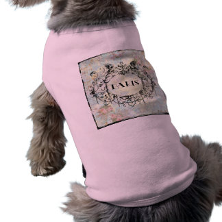 French Antique Style Rococo Design & Pink Roses Pet T Shirt