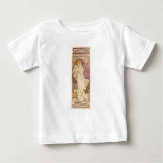French Art Nouveau Camellias - Alphonse Mucha Baby T-Shirt