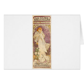French Art Nouveau Camellias - Alphonse Mucha Card