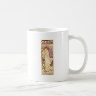 French Art Nouveau Camellias - Alphonse Mucha Coffee Mug