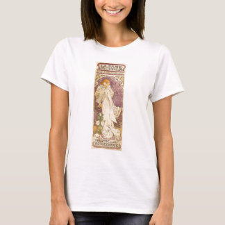 French Art Nouveau Camellias - Alphonse Mucha T-Shirt