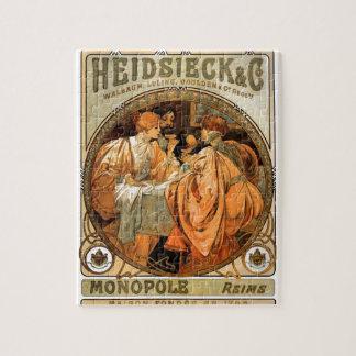 French Art Nouveau Publicity Poster Jigsaw Puzzle