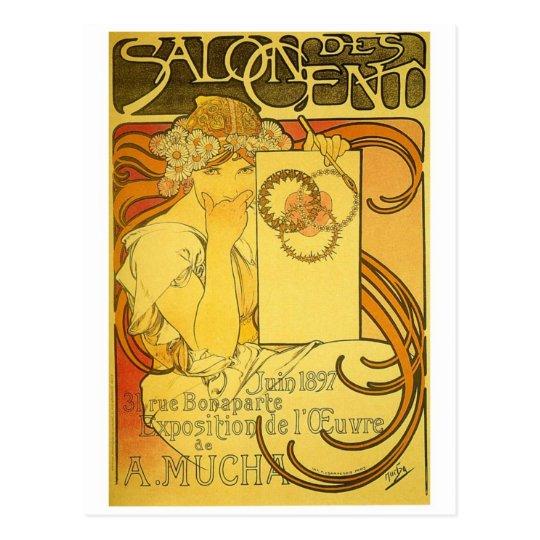 French Art Nouveau Publicity Poster Postcard