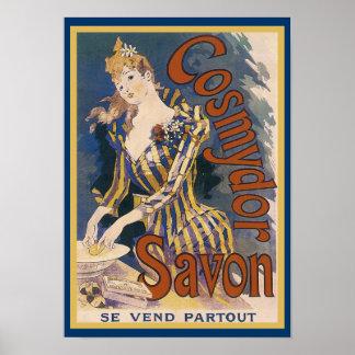 French Art Nouveau Soap Poster