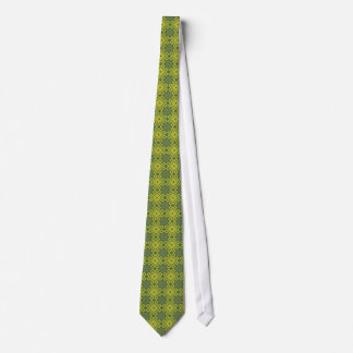 French Asters Tie - Green Diamonds
