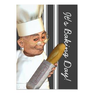 "French Baker Medium Event Invitations 4.5"" X 6.25"" Invitation Card"